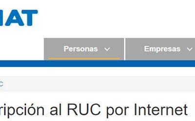 PRE-INSCRIPCIÓN AL RUC POR INTERNET